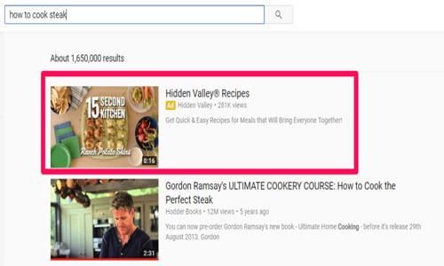 تبلیغ ویدیویی گوگل در سرچ یوتیوب (discovery ads)