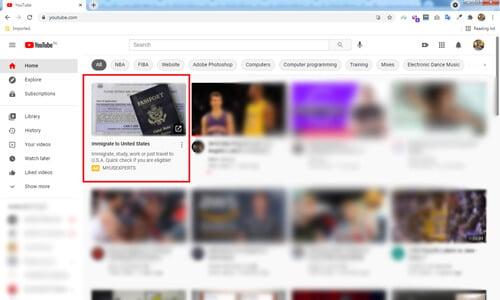 تبلیغ ویدیویی گوگل در صفحه پخش یوتویوب